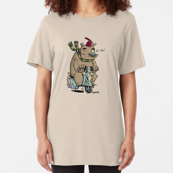 Scooter Bear Slim Fit T-Shirt
