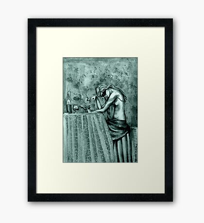 Contemplation ( In Mono ) Framed Print