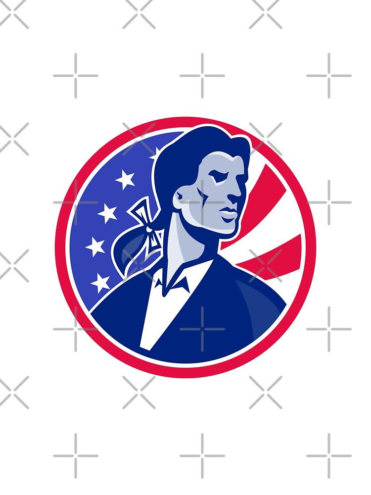 American Patriot Minuteman Stars Stripes Flag by retrovectors