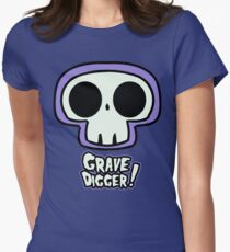 Grave Logo Womens Fitted T-Shirt
