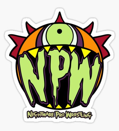 Nightmare Pro Wrestling - Logo  Sticker