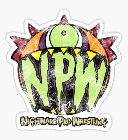 Nightmare Pro Wrestling - Vintage Tee Sticker