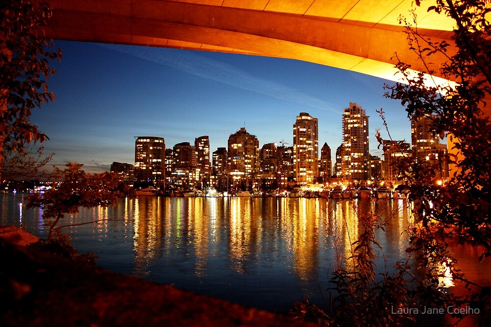 Vancouver Skyline view from Cambie Bridge by Laura Jane Coelho