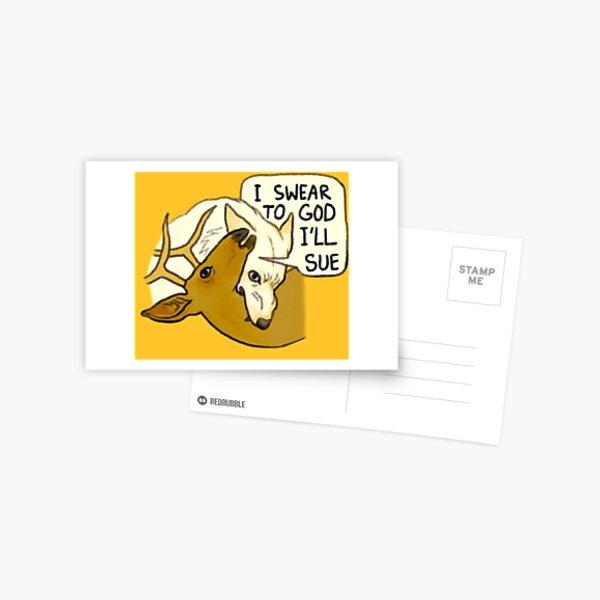 Wolf/Deer Conflict Postcard