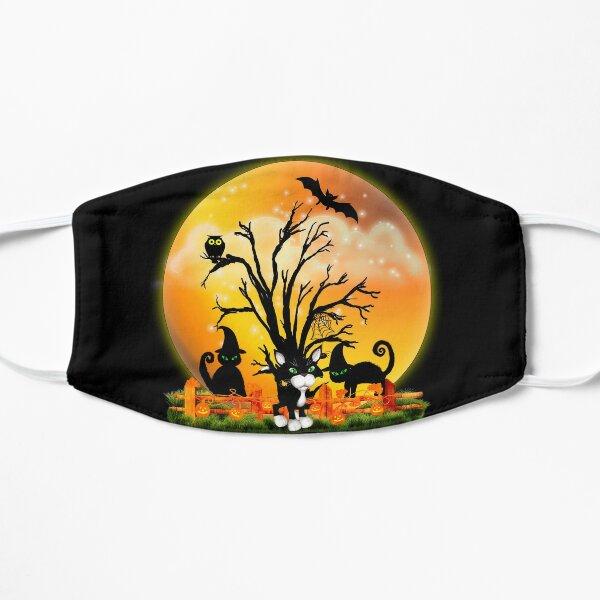 Halloween Katzen Flache Maske