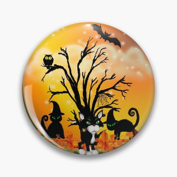 Halloween Katzen Button