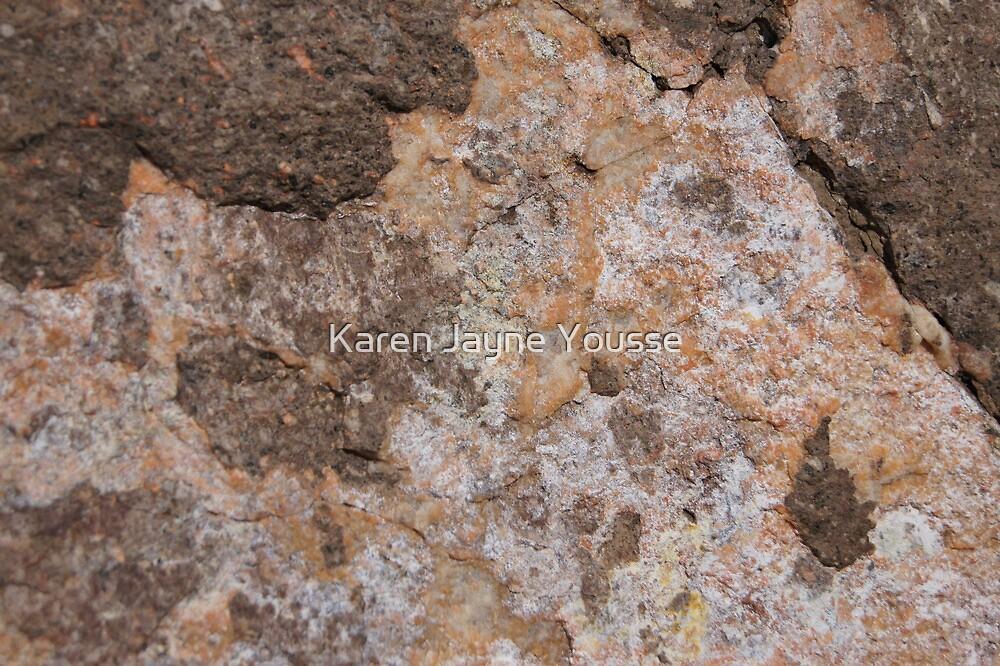 Orange Moss Rock by Karen Jayne Yousse
