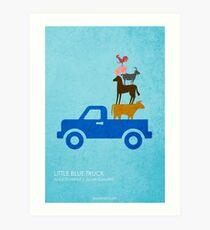 Little Blue Truck Art Print