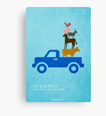 Little Blue Truck Canvas Print