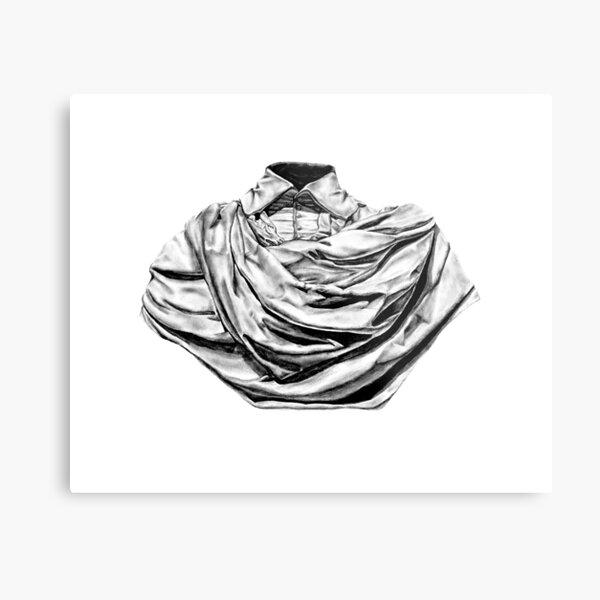 Marble Sculpture Sketch Metal Print