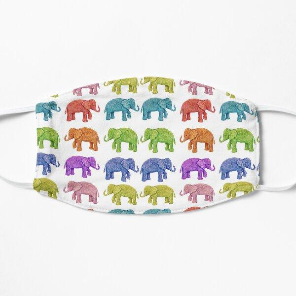 Parade of Rainbow Elephants Mask