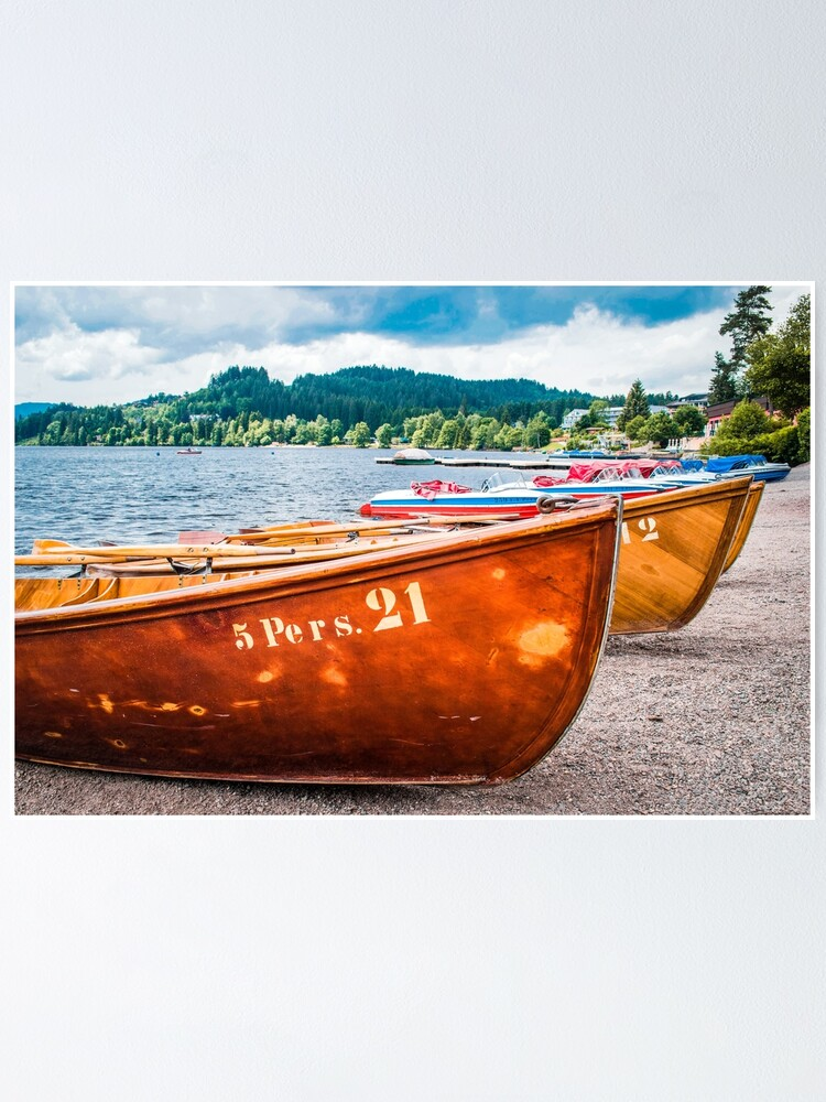 Boats By Lake Titisee Black Forest Germany Europe Landscape Photography Poster By Jessicalliang Redbubble