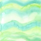 Hand-Painted Fresh Green Watercolor Abstract Background  by Beverly Claire Kaiya
