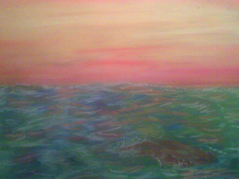 COLORFUL OCEAN SCENE by larry carter