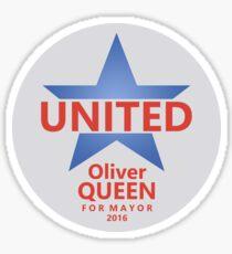 VOTE QUEEN FOR MAYOR 2016 (v2) Sticker