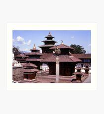 Durbar Square, Kathmandu Art Print