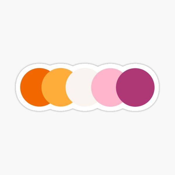 lesbian pride // subtle Sticker