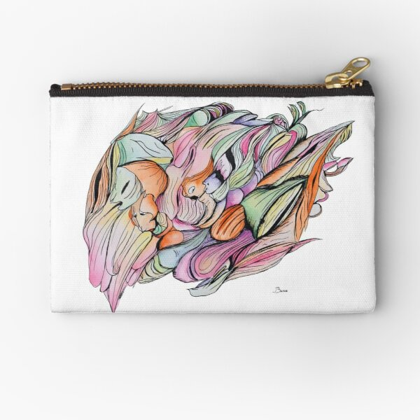 Colourful ink abstract Zipper Pouch