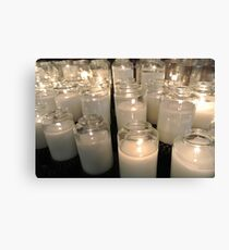 light a candle Canvas Print
