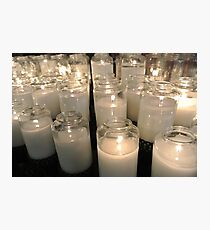 light a candle Photographic Print