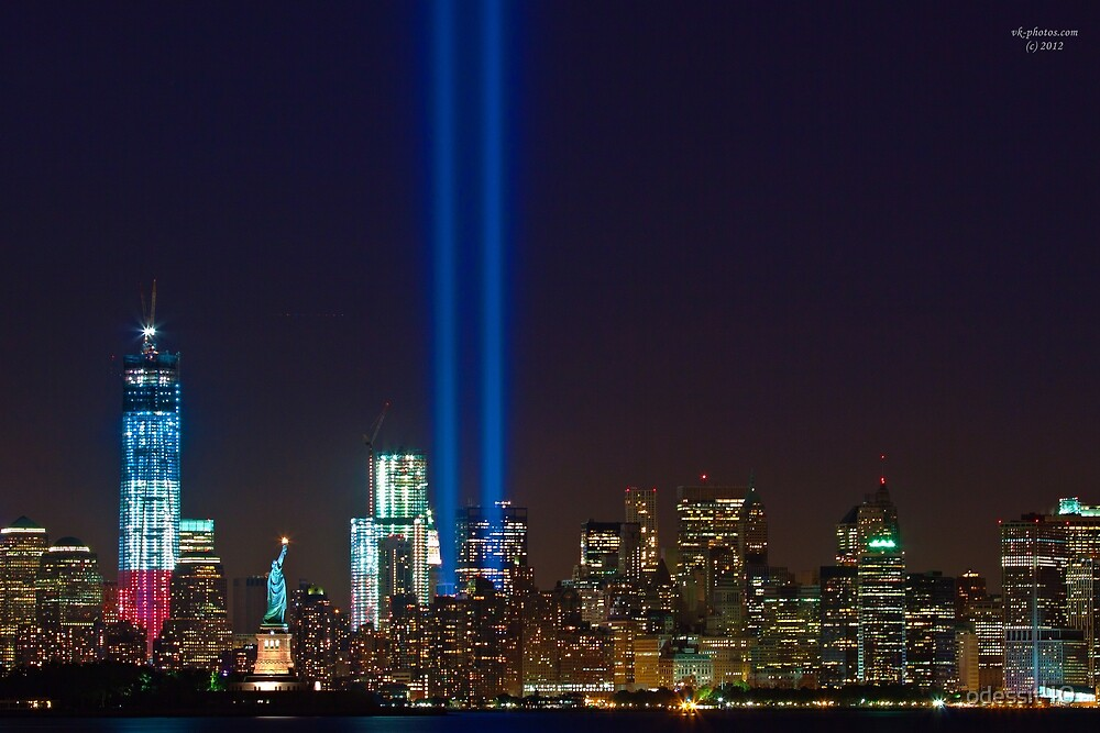 Tribute in Lights to 9/11 Tragedy by odessit40
