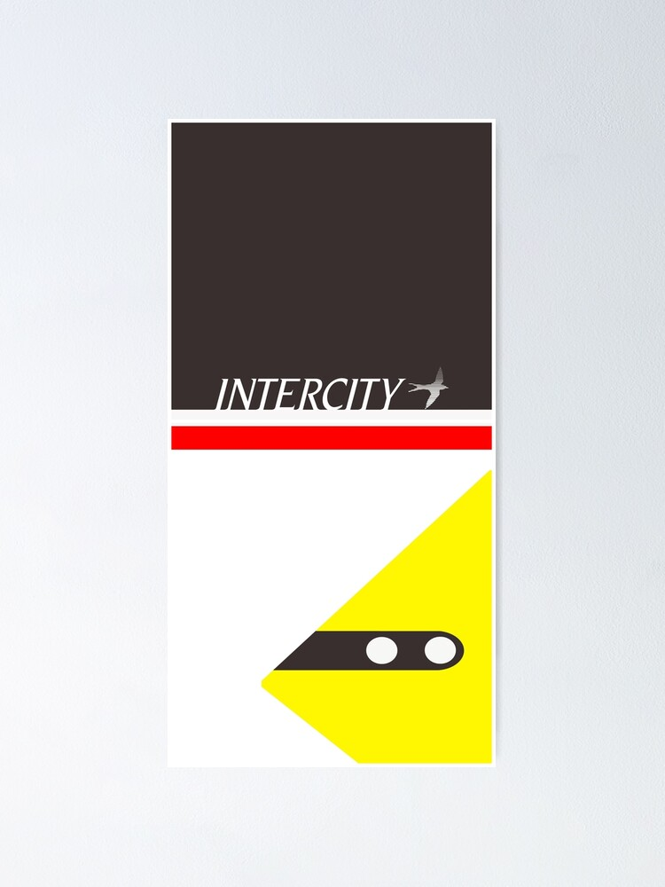 intercity 125 swallow livery poster by dowjones2348 redbubble redbubble