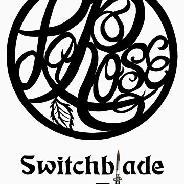 Switchblade Blues Sticker or Light Colored Tee by BlackWaterSiren