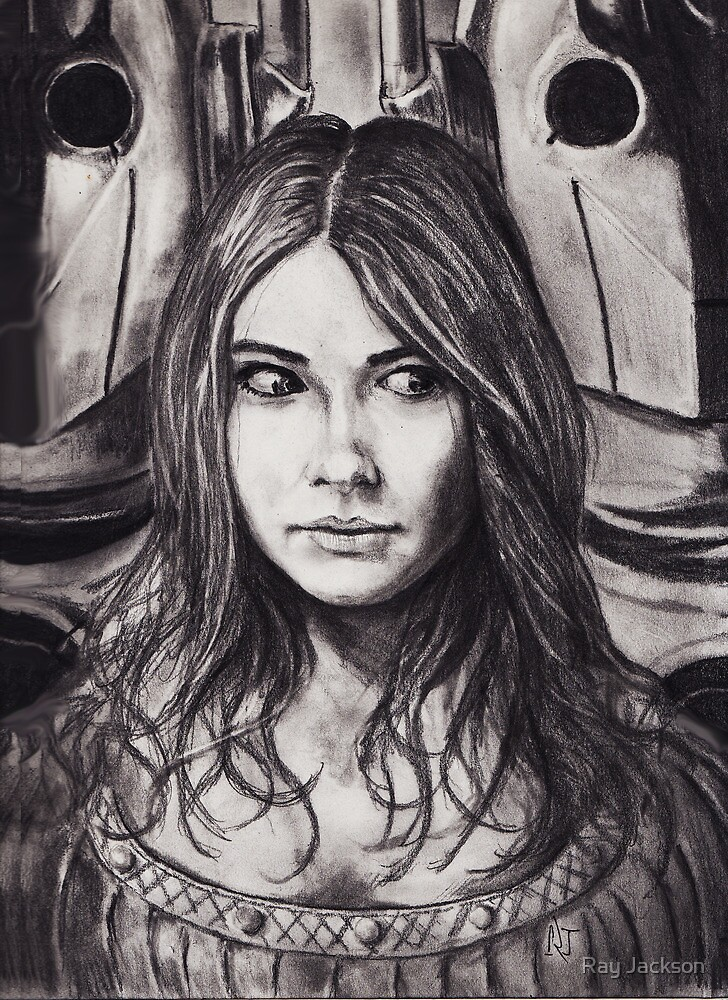THE CYBER TRIAL OF AMY POND . pencil work by Ray Jackson