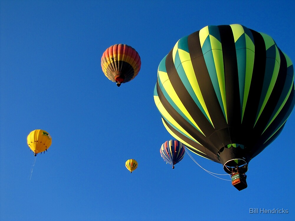 Balloons over Colorado Springs by Bill Hendricks