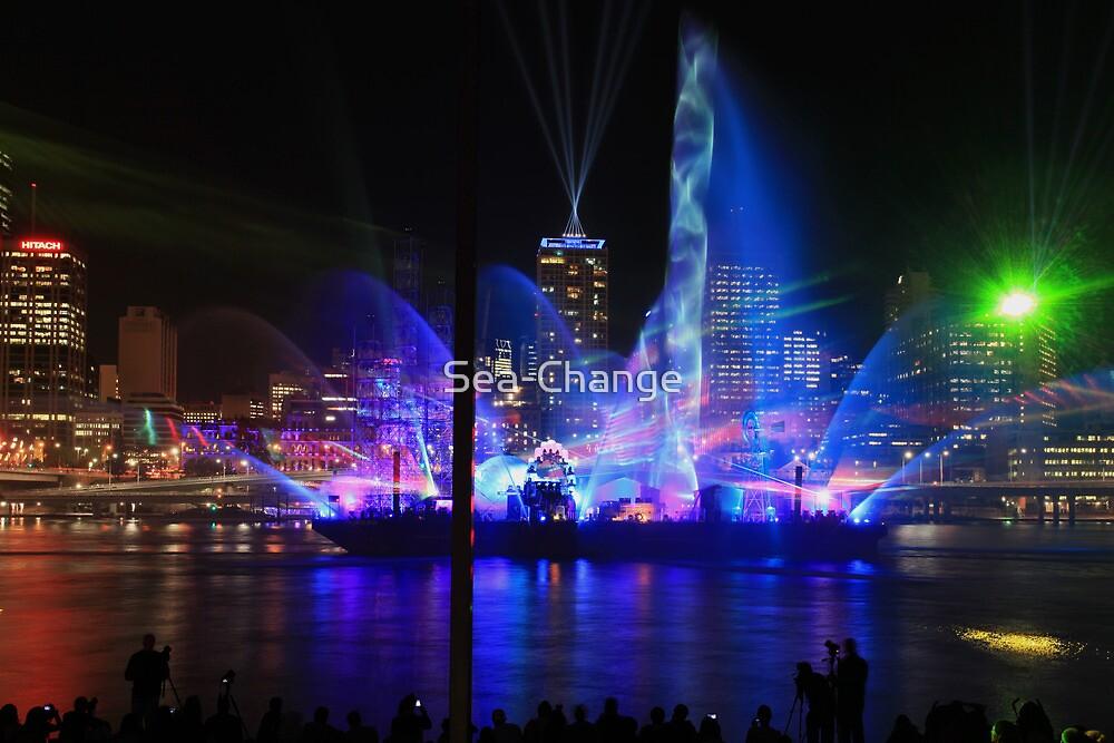 City of Lights Laser Show, Brisbane, Australia 12 Sept 2012 #2 by Sea-Change