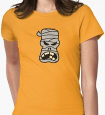 Angry Halloween Mummy Women's Fitted T-Shirt