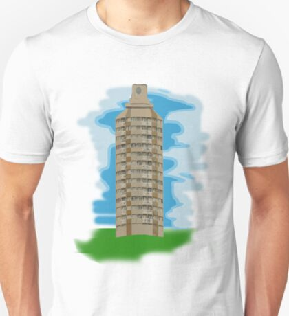 spray can tower block  T-Shirt