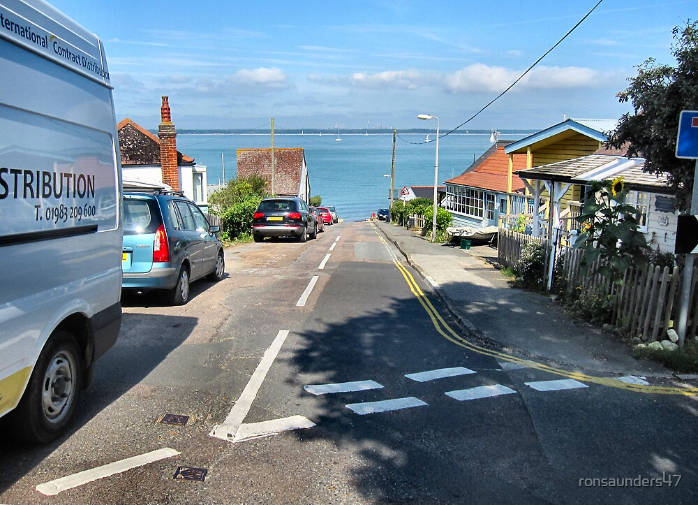 Dead-end street down to the bay. by ronsaunders47