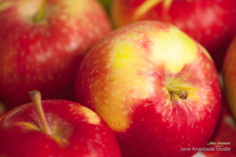 ...yummy freshness.......crisp and crunchy apples..... by Jane Anastasia Studio