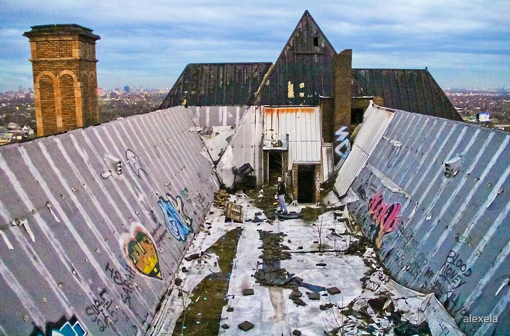 Detroit Rooftop by alexela
