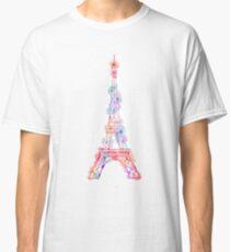 Flower Eiffel Tower Paris Classic T-Shirt