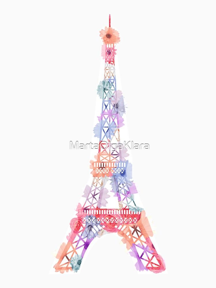 Blumen-Eiffelturm Paris von MartaOlgaKlara