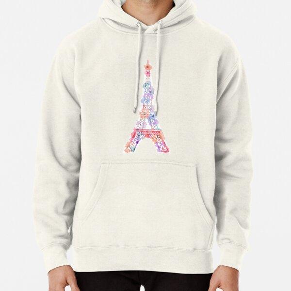 Flower Eiffel Tower Paris Pullover Hoodie