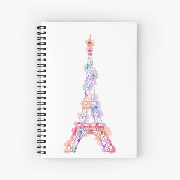 Blumen-Eiffelturm Paris Spiralblock