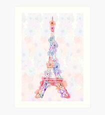 Lámina artística Flower Eiffel Tower Paris