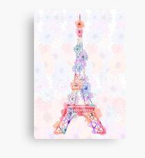 Flower Eiffel Tower Paris Canvas Print