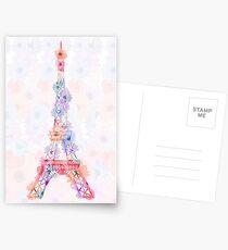 Flower Eiffel Tower Paris Postcards