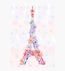 Flower Eiffel Tower Paris Photographic Print