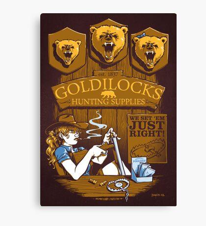Goldilocks Hunting Supplies (Print Version) Canvas Print