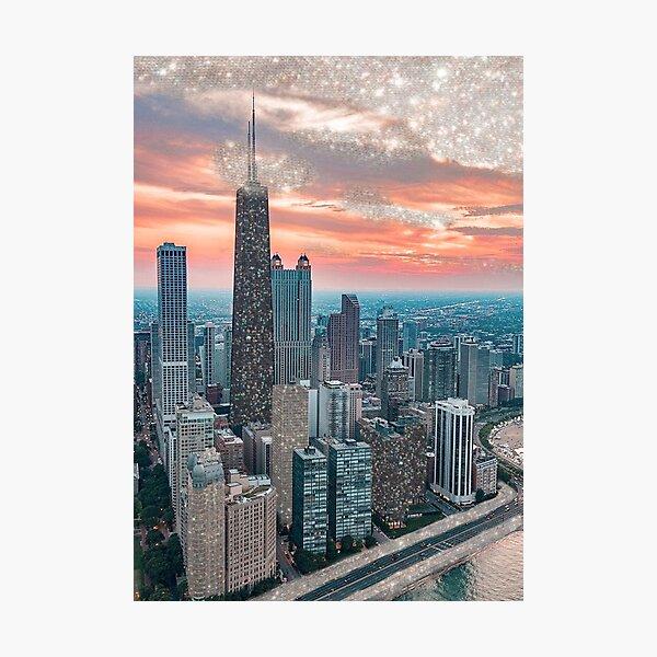 GLITTER CHICAGO Photographic Print