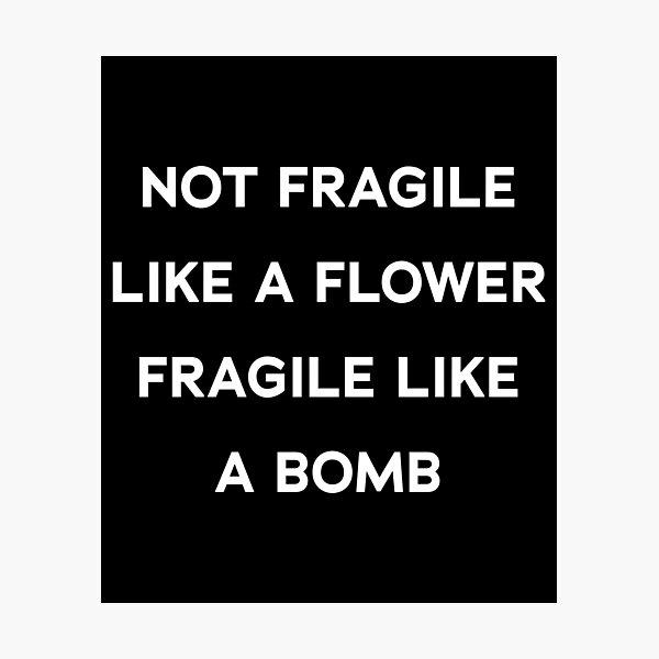 Not Fragile like a Flower Fragile like a Bomb Photographic Print