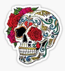 Heartbreak Sugar Skull Sticker