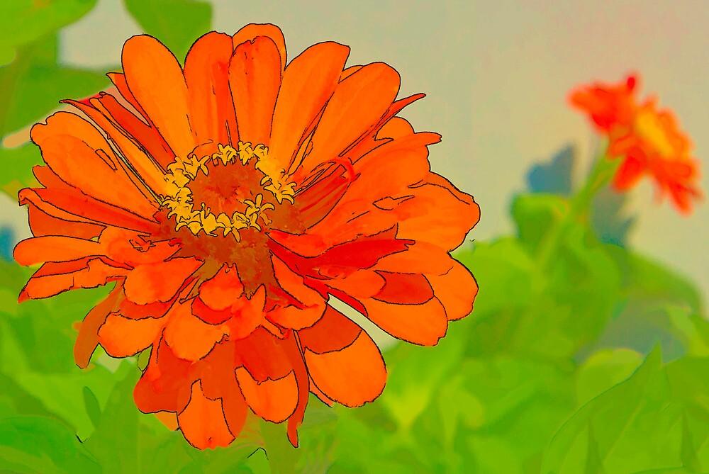 Bright Flower by Joy  Rector