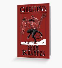 Grus vom Krampus Greeting Card
