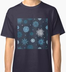 Beautiful snowflakes seamless ornament  Classic T-Shirt
